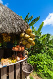 Cuba inland stall for tourists near Trinidad Royalty Free Stock Photo