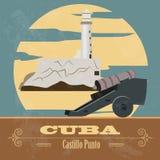 Cuba landmarks. Retro styled image Royalty Free Stock Image