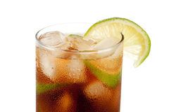 Cuba libre alcohol cocktail Royalty Free Stock Photography