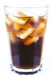 Cuba Libre Alcoholic Drink, Coke with Ice Non-alcoholic Drink. On white background royalty free stock images