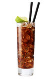 Cuba Libre Cocktail Isolation On A White Royalty Free Stock Images