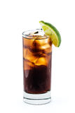 Cuba libre cocktail isolation on white background Stock Photos