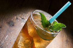 Cuba Libre Drink with lime, mint and Cola Stock Image