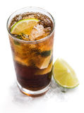 Cuba Libre Longdrink (isolated on white) Royalty Free Stock Image