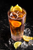 Cuba libre on marble table Royalty Free Stock Images