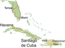 Cuba map. Royalty Free Stock Photography