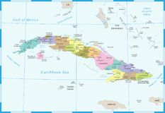 Cuba Map - Detailed Vector Illustration Royalty Free Illustration