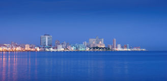 Cuba, mar dei Caraibi, La Habana, Avana, orizzonte alla mattina Fotografie Stock