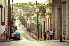 Cuba, Matanzas city. CUBA, MATANZAS - DECEMBER 2012 - typical street of Matanzas city, cuban Venice Stock Images