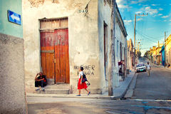 Cuba, Matanzas city. CUBA, MATANZAS - DECEMBER 2012 - typical street of Matanzas city, cuban Venice Royalty Free Stock Image
