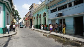 Cuba. Matanzas. Street Transportation. Cuba. Matanzas (Spanish Matanzas) - a city in Cuba, capital of the homonymous province. Is located 90 km east of Havana Stock Images
