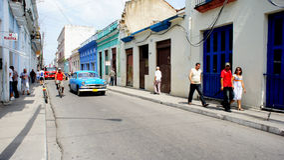 Cuba. Matanzas. Transporte da rua. Fotografia de Stock Royalty Free