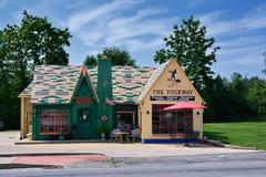 The Fourway diner in Cuba. Cuba, Missouri, USA - July 18, 2017 : The Fourway diner in Cuba, located on historic Route 66 Stock Photo