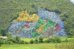Cuba Mural of Prehistory Royalty Free Stock Image