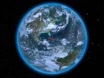 Cuba na noite na terra Foto de Stock
