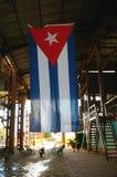 Cuba national flag in Havana city. Stock Photography
