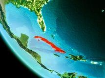 Cuba nel rosso nella sera illustrazione di stock