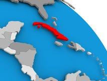 Cuba nel rosso sulla mappa royalty illustrazione gratis