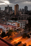 Cuba. Night Havana. The top view on the avenue Presidents Royalty Free Stock Images