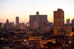 Cuba. Night Havana. The top view Cityscape Stock Photography