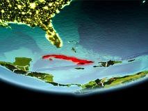 Cuba no vermelho na noite Imagem de Stock Royalty Free