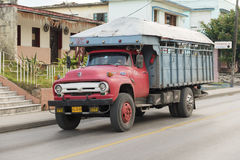 Cuba Old American Truck Transporting Passengers Royalty Free Stock Images