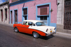 Cuba - old car Royalty Free Stock Photos