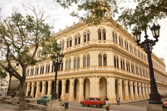 CUBA OLD HAVANA BEAUTIFUL CORNER BUILDING stock images