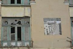 CUBA OLD HAVANA STREET SCENE RESTORATION PROJECT Royalty Free Stock Photos