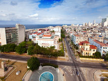 Cuba. Old Havana. Top view.City landscape in a sunny day Stock Photo