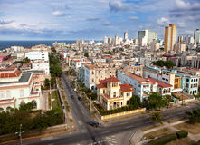 Cuba. Old Havana. Top view.Cityscape in a sunny day Royalty Free Stock Photos