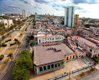 Cuba. Old Havana. Top view. Prospectus of presidents.City landscape in a sunny day Stock Photos