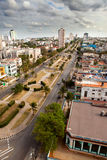 Cuba. Old Havana. Top view. Prospectus of presidents.Cityscape in a sunny day Stock Image