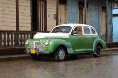 Cuba oldtimer car stock photo