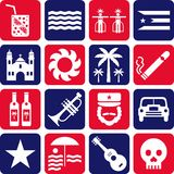 Cuba pictograms Stock Image