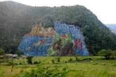 Cuba pintou a montanha Foto de Stock Royalty Free