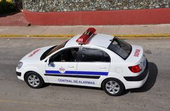 Cuba police car Royalty Free Stock Images