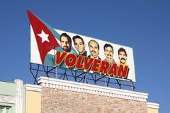 Cuba political poster Royalty Free Stock Photos
