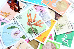 Cuba postage stamps Stock Photography