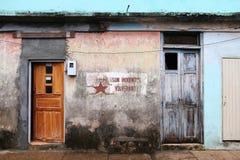 Cuba propaganda art Royalty Free Stock Image