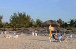 Cuba: Quite empty Varadero Beach stock photo