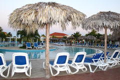 Cuba Resort. Lounging by the pool in Cuba Royalty Free Stock Image