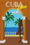 Cuba retro poster. Cuba retro poster vector illustration Royalty Free Stock Photos