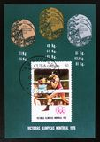 Cuba, série devotada aos jogos de Montreal 1976, cerca de 1976 Fotos de Stock Royalty Free