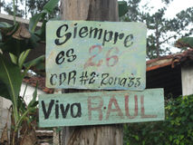 Cuba's politics propaganda Royalty Free Stock Image