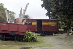 CUBA, SANTA CLARA 2 DE FEVEREIRO DE 2013: Monumento ao descarrilamento do trem blindado imagem de stock