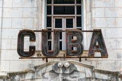 Cuba sign Stock Images