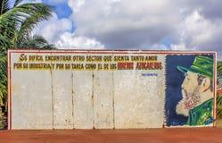Cuba, sinal de Fidel Castro Fotos de Stock Royalty Free