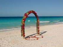 Beach and ocean in Cuba in the Spring. Cuban Resort stock image