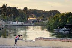 Cuba, stad Matanzas Stock Foto's